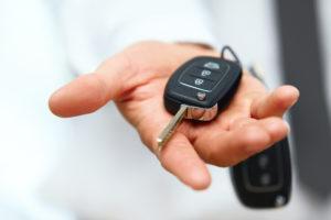 car concierge with keys.